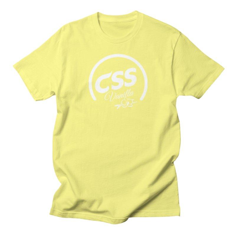 Vanilla CSS (white) Women's Regular Unisex T-Shirt by Border_Top