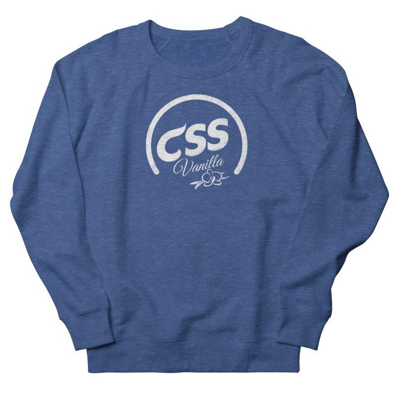 Vanilla CSS (white) Women's French Terry Sweatshirt by Border_Top