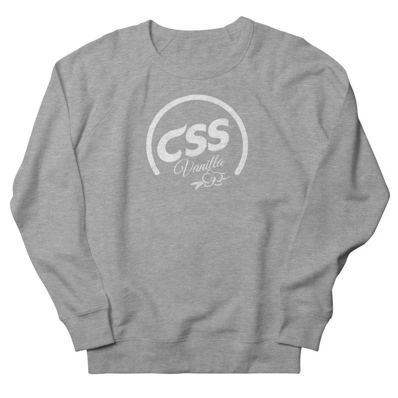 Vanilla CSS (white) Men's French Terry Sweatshirt by Border_Top