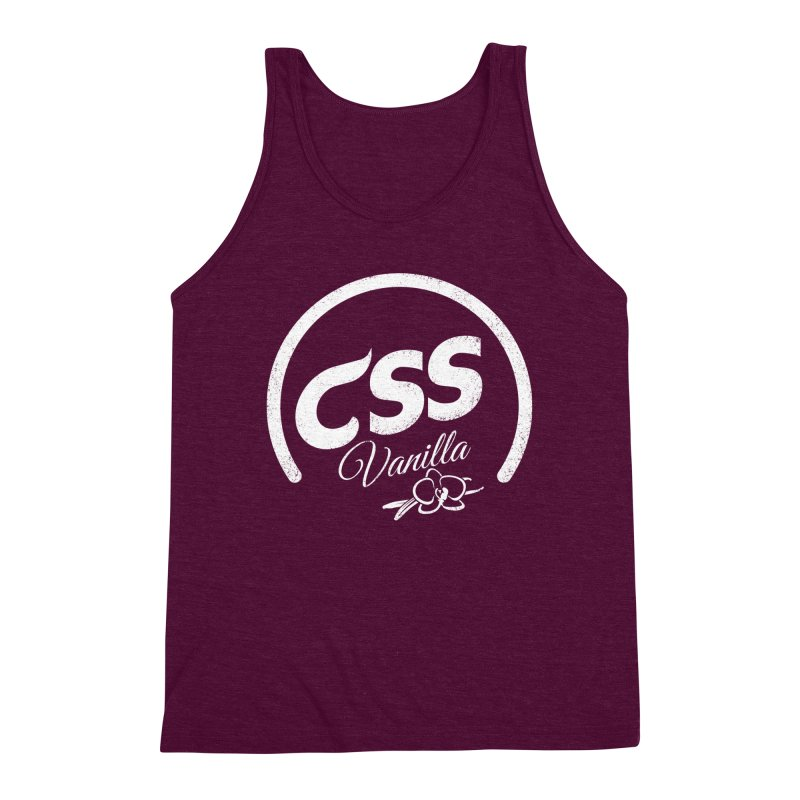 Vanilla CSS (white) Men's Triblend Tank by Border_Top