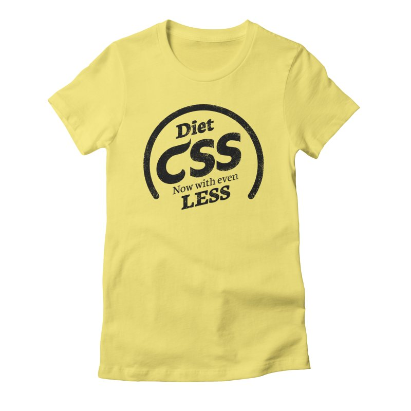 Diet CSS Women's Fitted T-Shirt by Border_Top