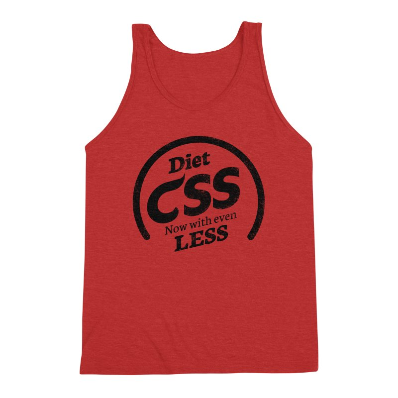 Diet CSS Men's Triblend Tank by Border_Top