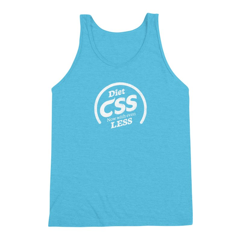 Diet CSS (white) Men's Triblend Tank by Border_Top