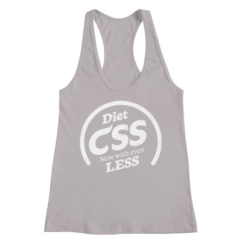 Diet CSS (white) Women's Racerback Tank by Border_Top