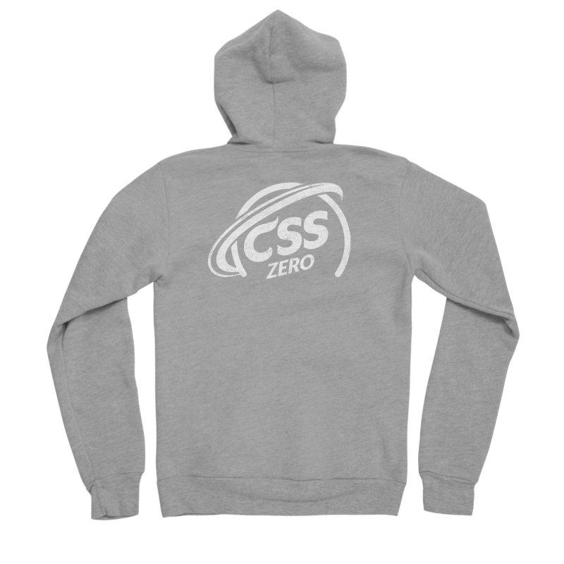 CSS Zero (white) Men's Sponge Fleece Zip-Up Hoody by Border_Top