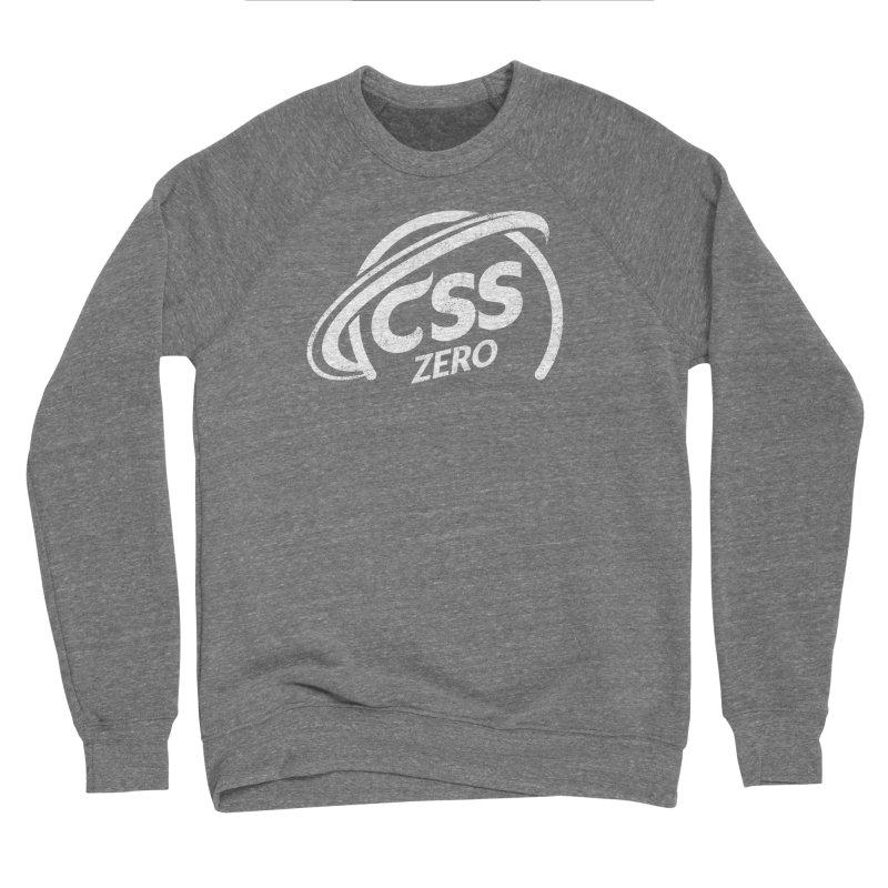 CSS Zero (white) Men's Sponge Fleece Sweatshirt by Border_Top