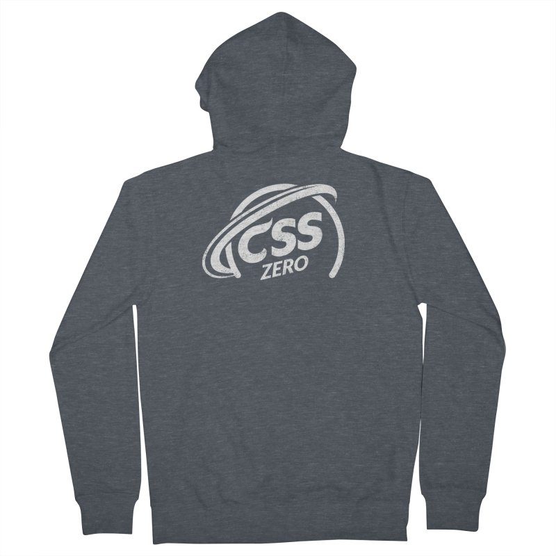 CSS Zero (white) Men's French Terry Zip-Up Hoody by Border_Top