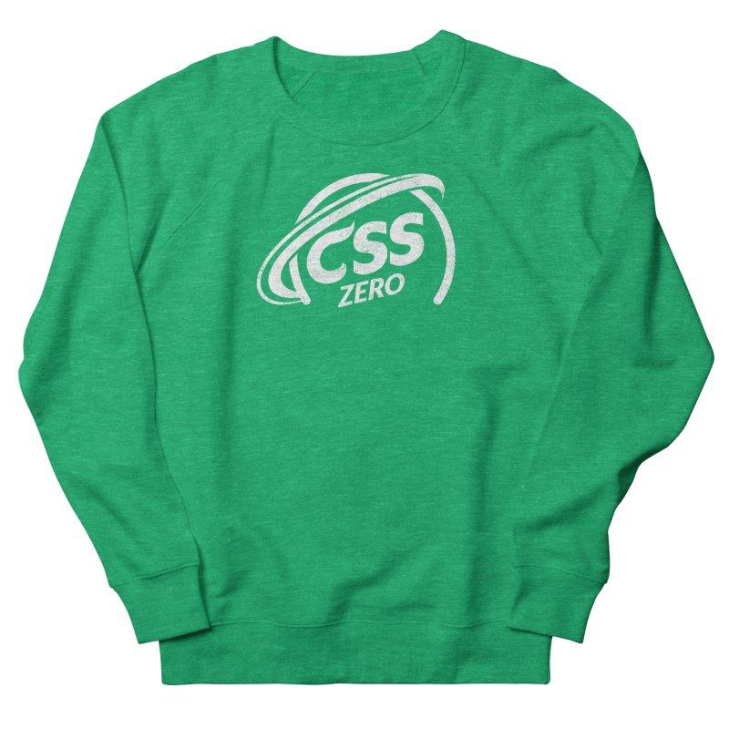 CSS Zero (white) Men's French Terry Sweatshirt by Border_Top