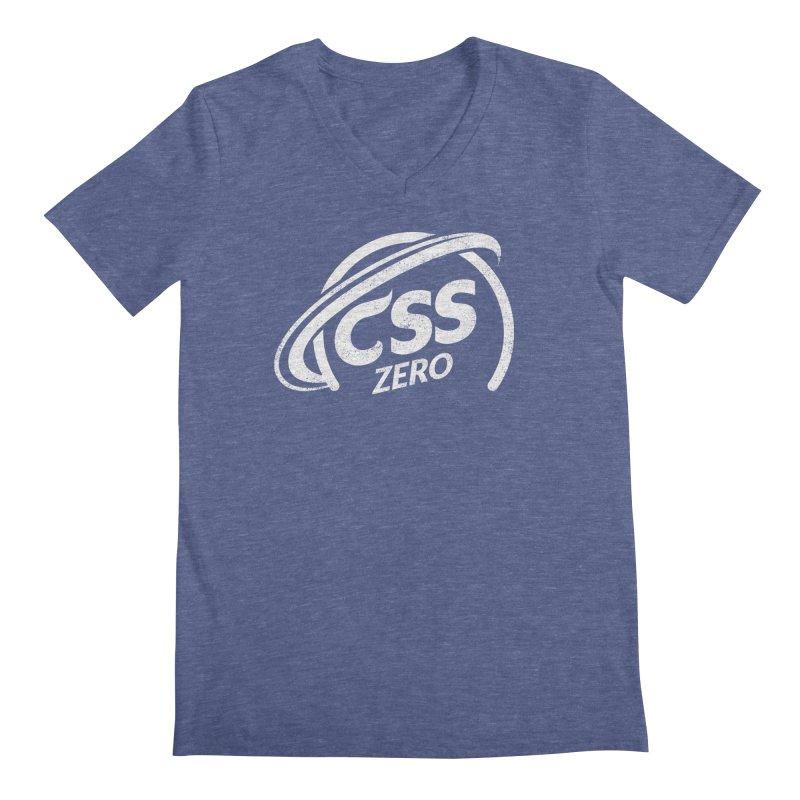 CSS Zero (white) Men's Regular V-Neck by Border_Top