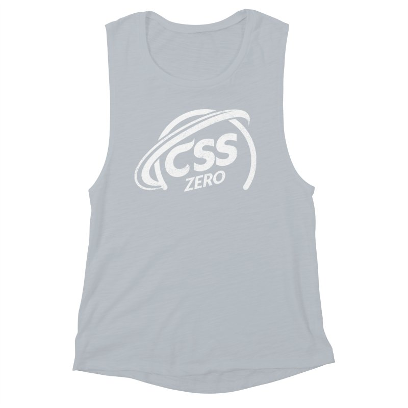 CSS Zero (white) Women's Muscle Tank by Border_Top