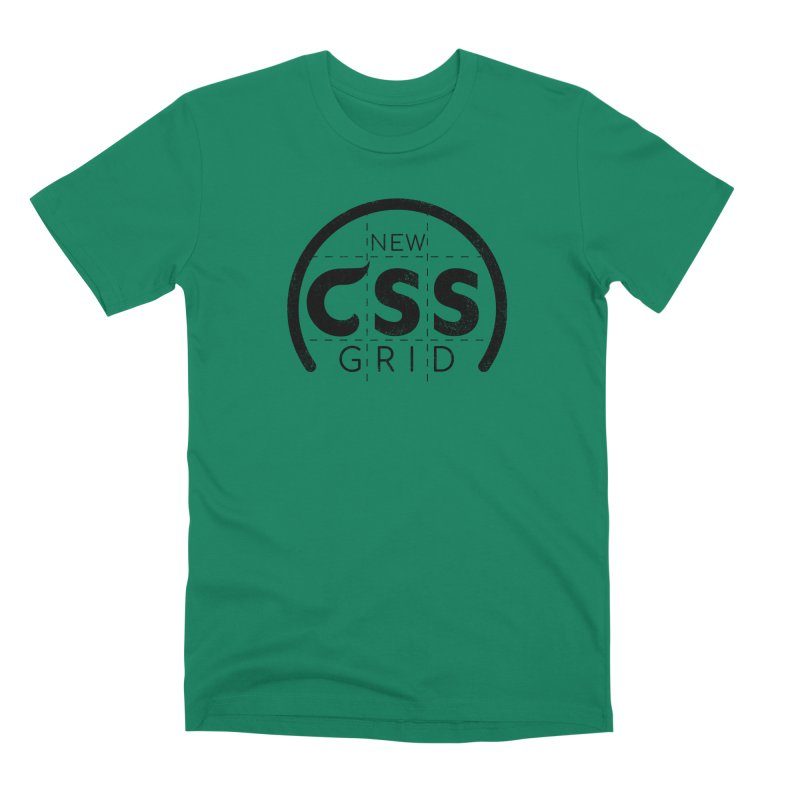CSS Grid Men's Premium T-Shirt by Border_Top