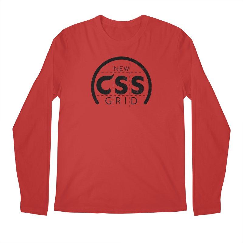CSS Grid Men's Regular Longsleeve T-Shirt by Border_Top