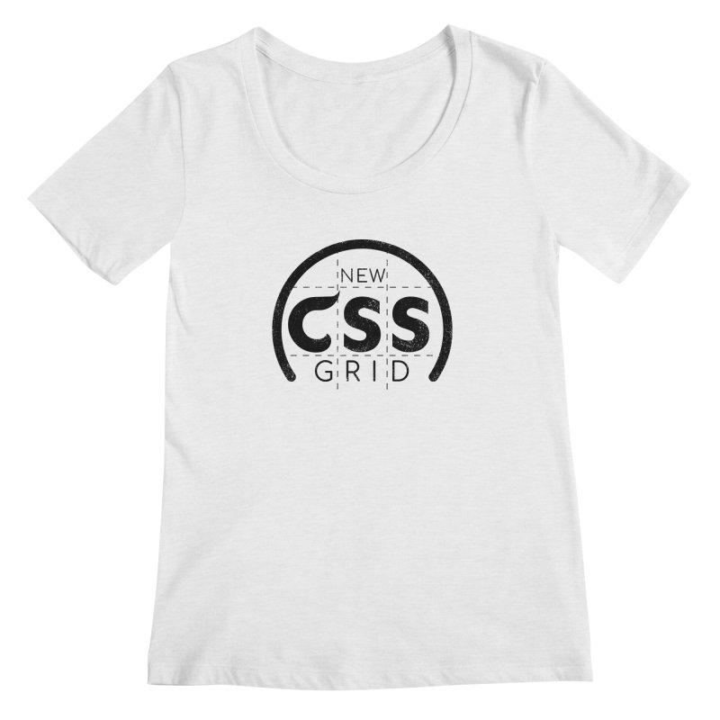 CSS Grid Women's Regular Scoop Neck by Border_Top