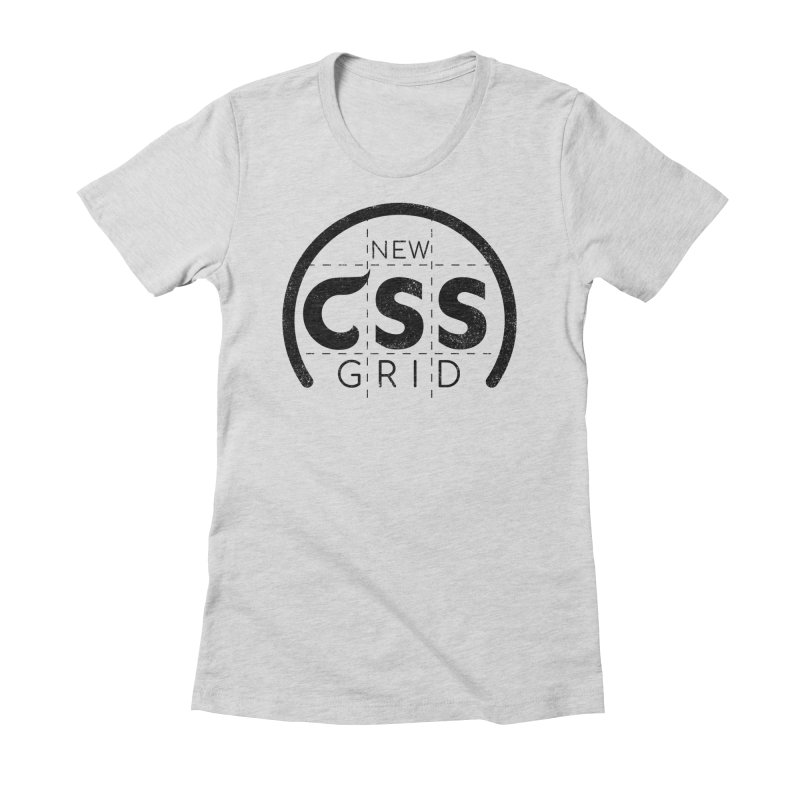 CSS Grid Women's Fitted T-Shirt by Border_Top