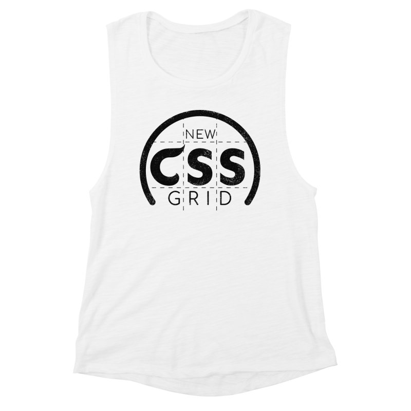 CSS Grid Women's Muscle Tank by Border_Top
