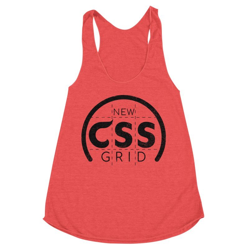 CSS Grid Women's Racerback Triblend Tank by Border_Top