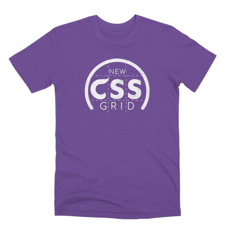 CSS Grid (white) Men's Premium T-Shirt by Border_Top