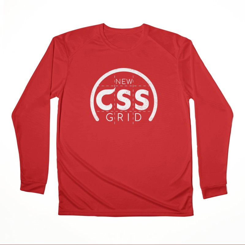 CSS Grid (white) Men's Performance Longsleeve T-Shirt by Border_Top