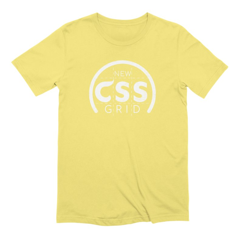 CSS Grid (white) Men's Extra Soft T-Shirt by Border_Top