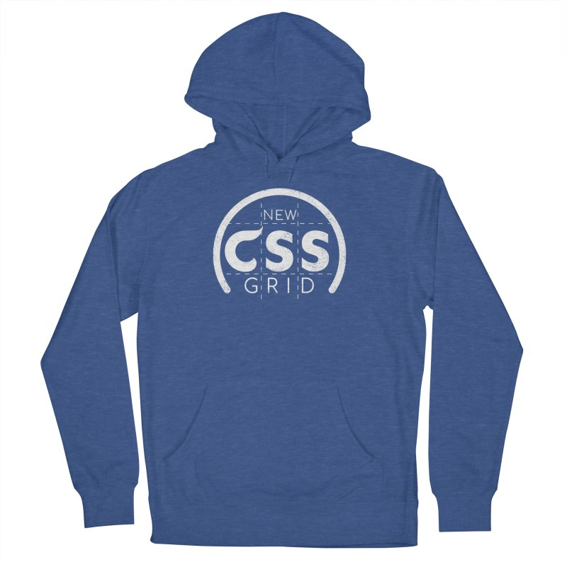 CSS Grid (white) Women's French Terry Pullover Hoody by Border_Top
