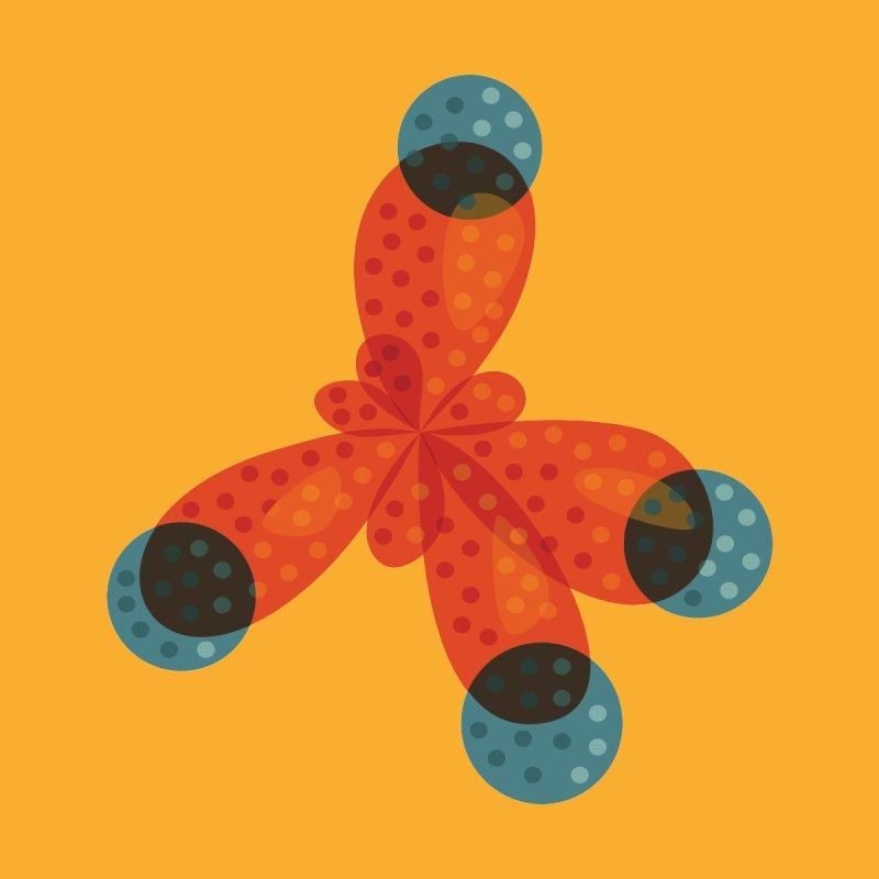 Orange Methane Molecule Chemistry Geek by Boriana's Artist Shop