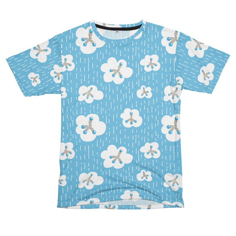 Clouds And Methane Molecules Chemistry Geek Men's French Terry T-Shirt Cut & Sew by Boriana's Artist Shop