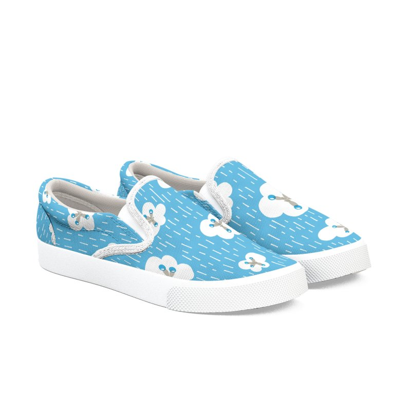 Clouds And Methane Molecules Chemistry Geek Men's Slip-On Shoes by Boriana's Artist Shop