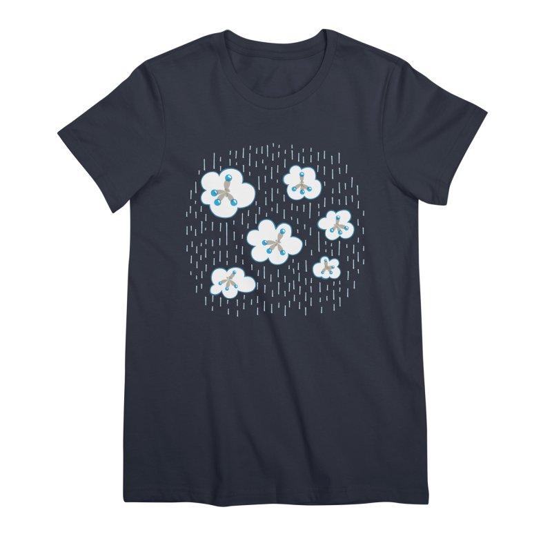 Clouds And Methane Molecules Chemistry Geek Women's Premium T-Shirt by Boriana's Artist Shop