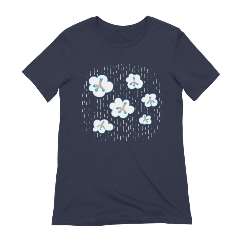 Clouds And Methane Molecules Chemistry Geek Women's Extra Soft T-Shirt by Boriana's Artist Shop