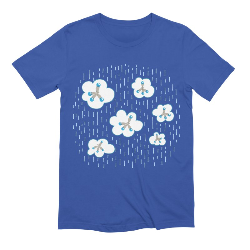 Clouds And Methane Molecules Chemistry Geek Men's Extra Soft T-Shirt by Boriana's Artist Shop