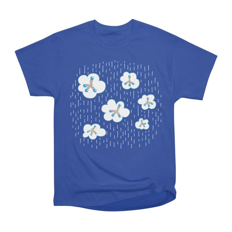 Clouds And Methane Molecules Chemistry Geek Men's Heavyweight T-Shirt by Boriana's Artist Shop