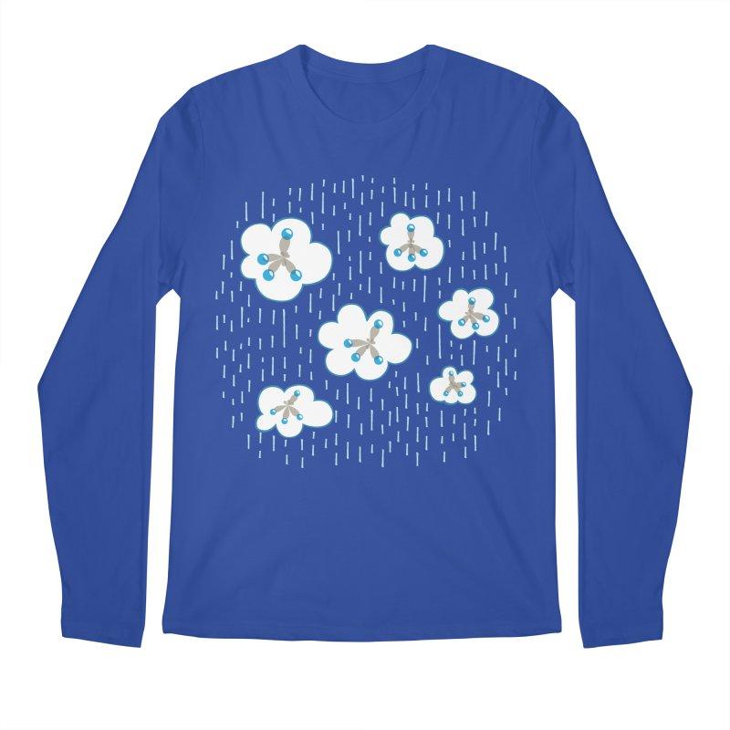 Clouds And Methane Molecules Chemistry Geek Men's Regular Longsleeve T-Shirt by Boriana's Artist Shop