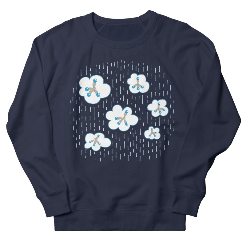 Clouds And Methane Molecules Chemistry Geek Women's French Terry Sweatshirt by Boriana's Artist Shop