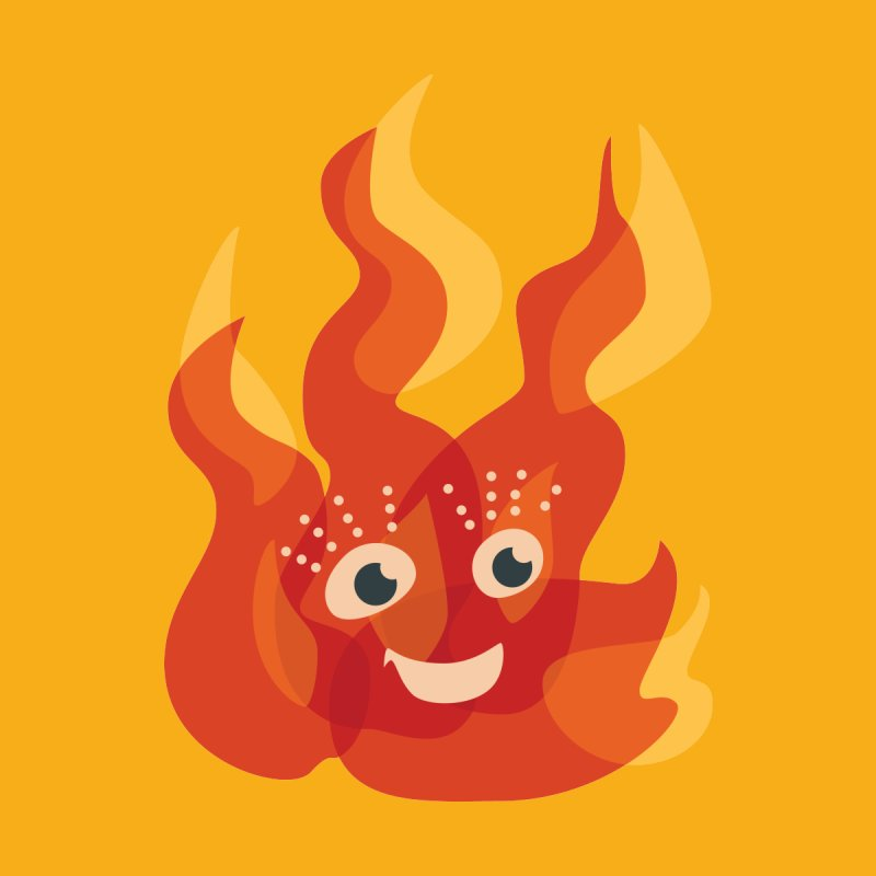 Cute Fire Flame Character by Boriana's Artist Shop