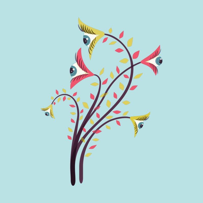 Trippy Eye Flowers Watching Men's T-Shirt by Boriana's Artist Shop