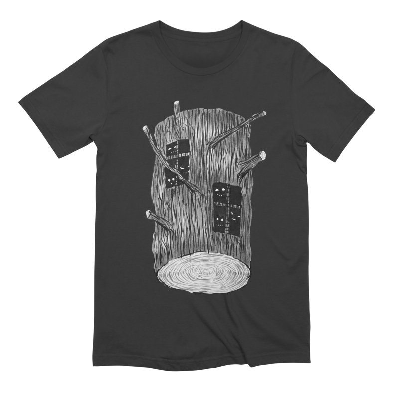 Tree Log With Forest Creatures Men's Extra Soft T-Shirt by Boriana's Artist Shop