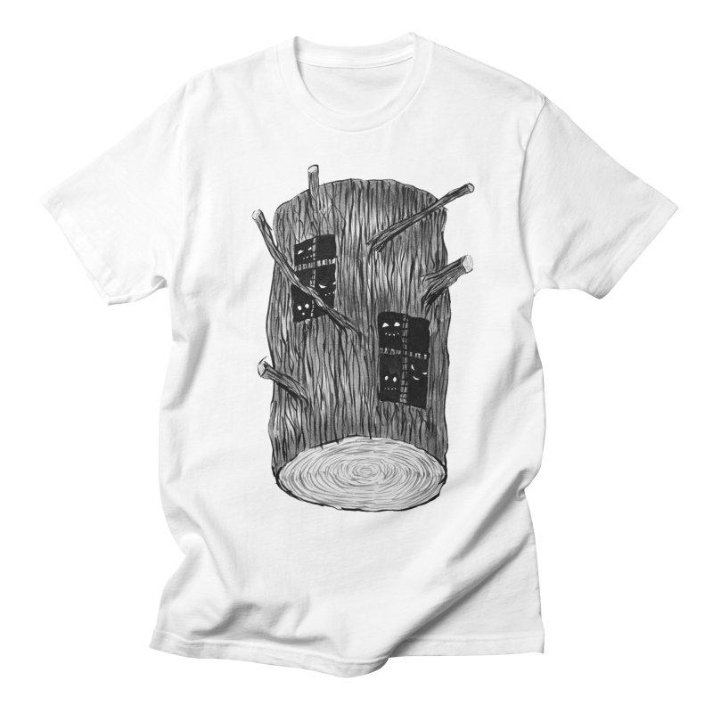 Tree Log With Forest Creatures Women's Regular Unisex T-Shirt by Boriana's Artist Shop
