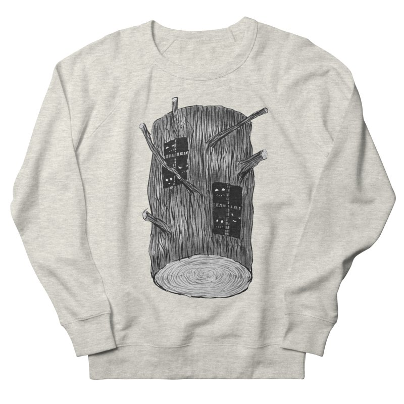 Tree Log With Forest Creatures Women's French Terry Sweatshirt by Boriana's Artist Shop