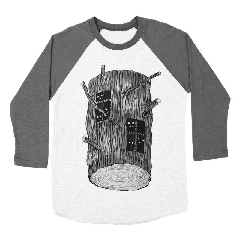 Tree Log With Forest Creatures Women's Baseball Triblend Longsleeve T-Shirt by Boriana's Artist Shop