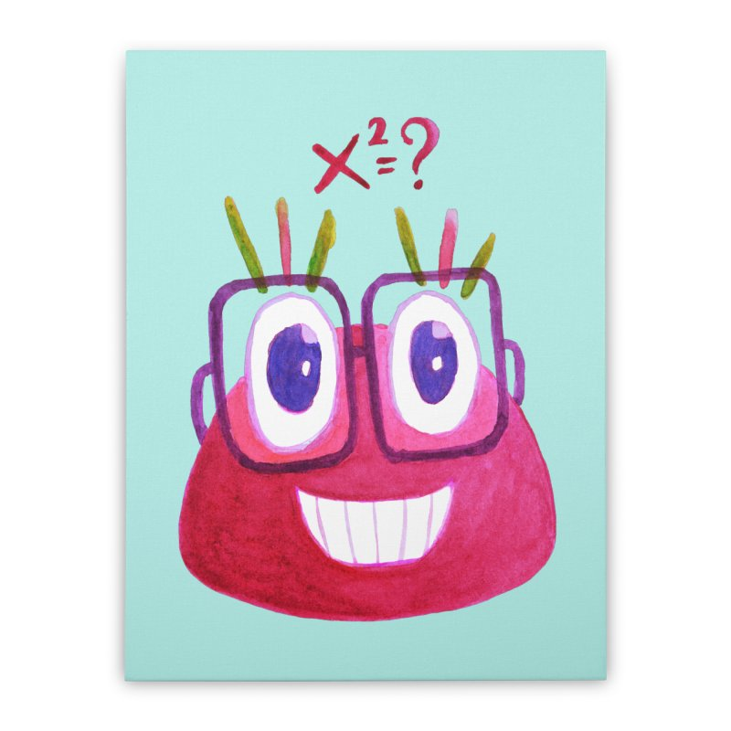 Cute Math Candy Character Home Stretched Canvas by Boriana's Artist Shop