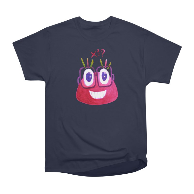 Cute Math Candy Character Men's Heavyweight T-Shirt by Boriana's Artist Shop