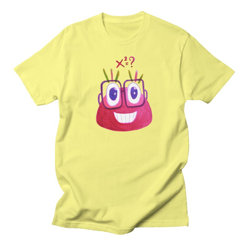 Cute Math Candy Character Men's T-Shirt by Boriana's Artist Shop