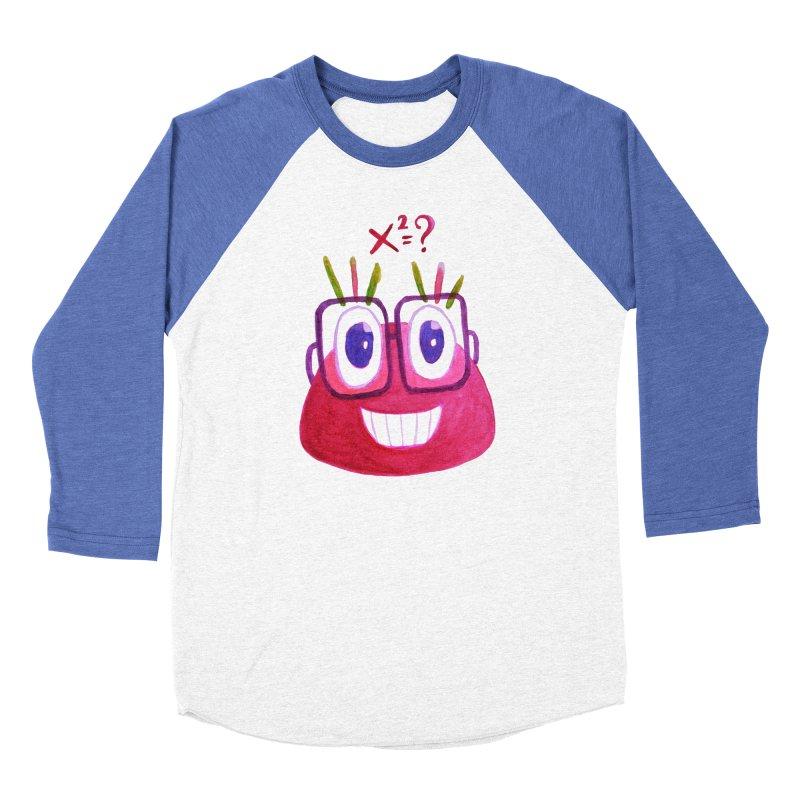 Cute Math Candy Character Women's Baseball Triblend Longsleeve T-Shirt by Boriana's Artist Shop