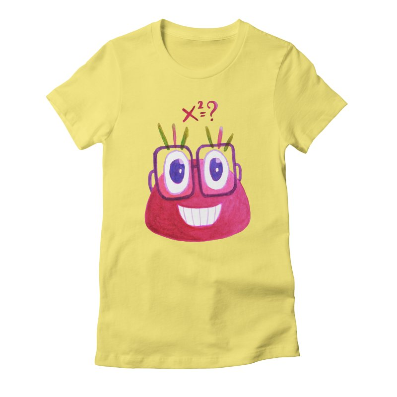 Cute Math Candy Character Women's Fitted T-Shirt by Boriana's Artist Shop