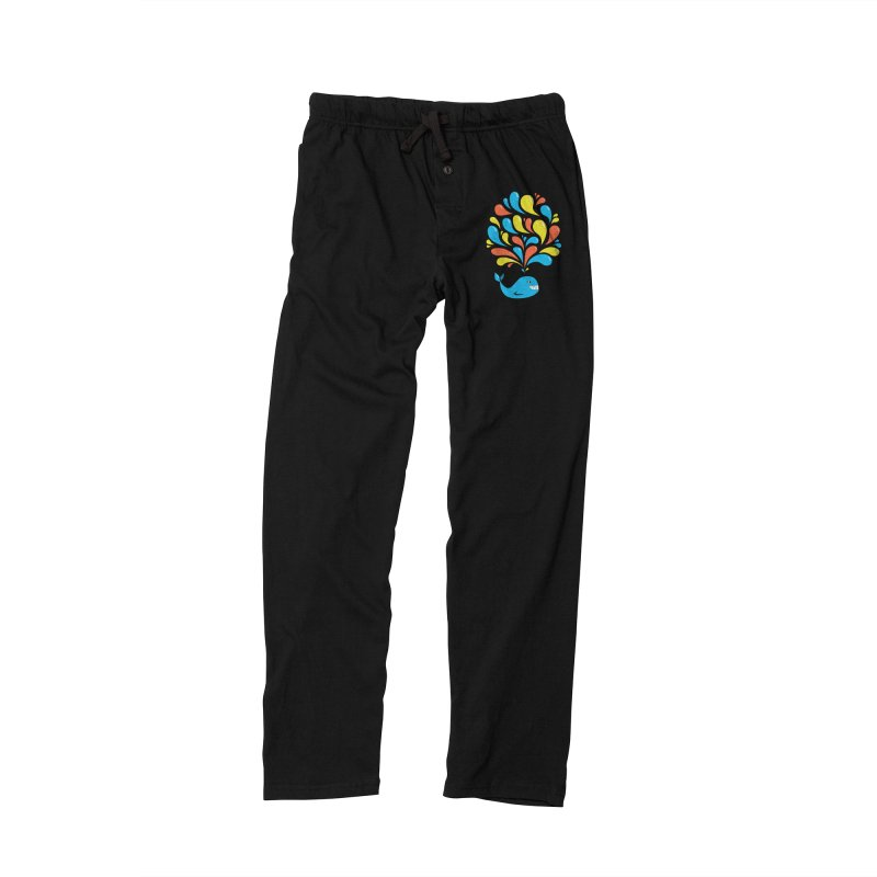 Colorful Happy Whale Women's Lounge Pants by Boriana's Artist Shop