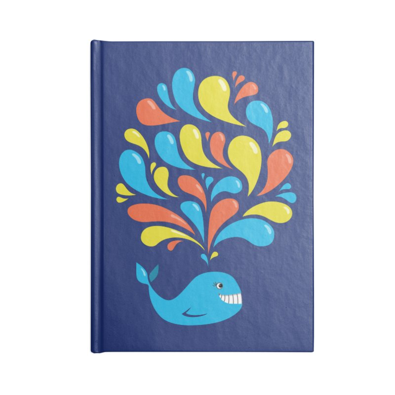 Colorful Happy Whale Accessories Notebook by Boriana's Artist Shop
