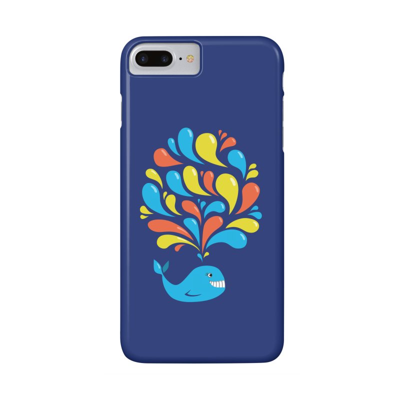 Colorful Happy Whale Accessories Phone Case by Boriana's Artist Shop