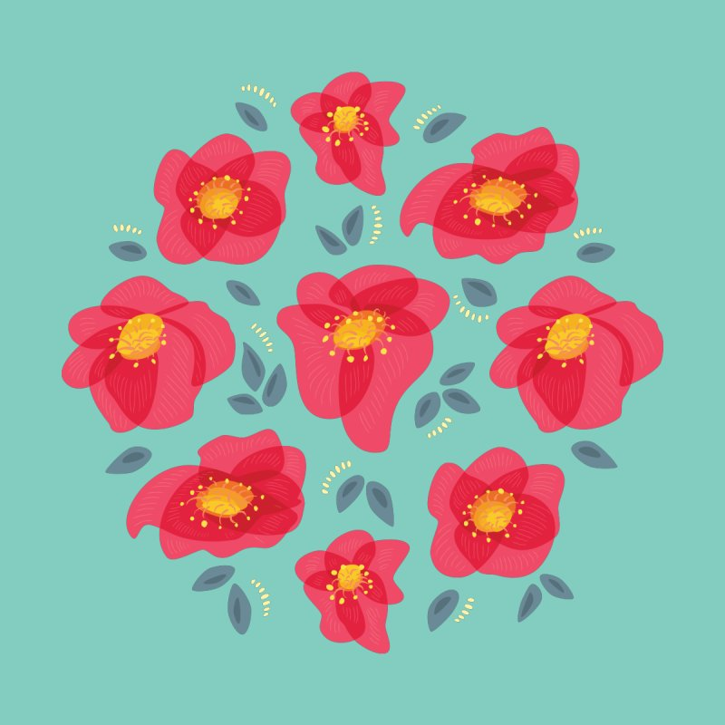Pretty Pink Spring Flowers by Boriana's Artist Shop