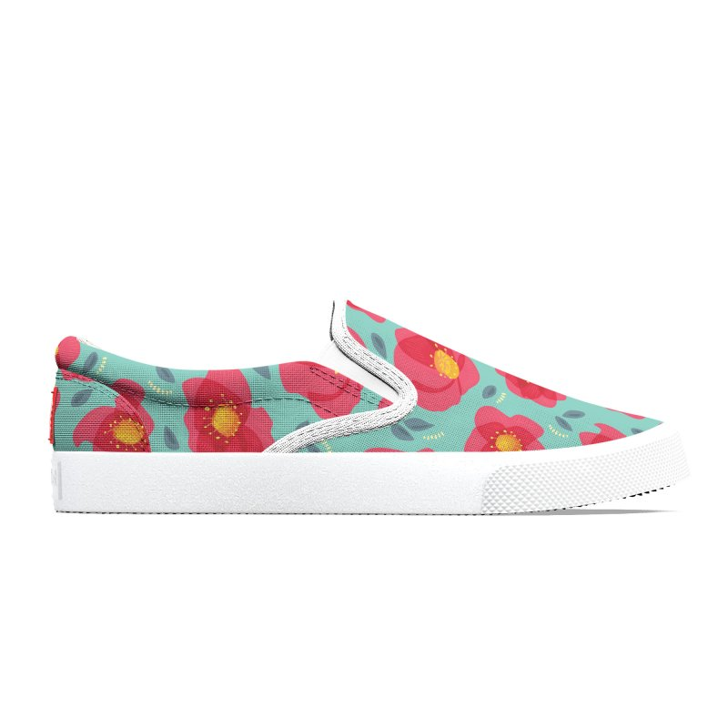 Pretty Pink Spring Flowers Men's Shoes by Boriana's Artist Shop
