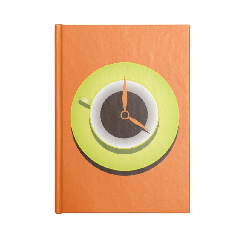 Coffee Time Accessories Notebook by Boriana's Artist Shop